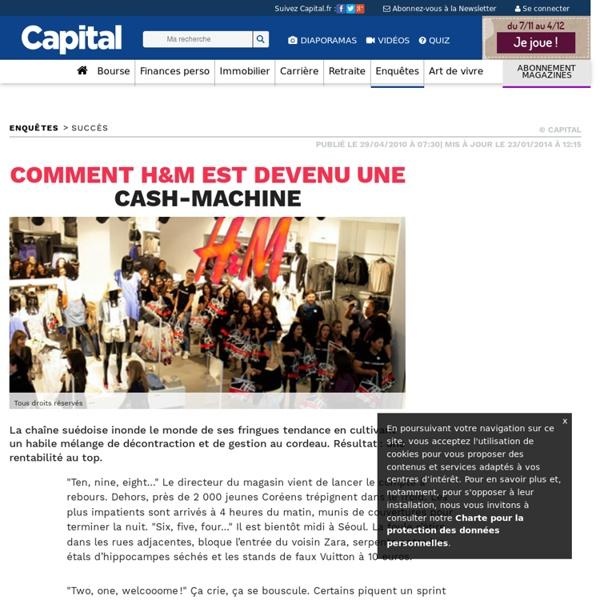 """H&M, une machine à """"Cash"""""""
