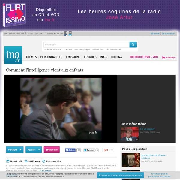 Video Comment l'intelligence vient aux enfants notice archives video ina.fr
