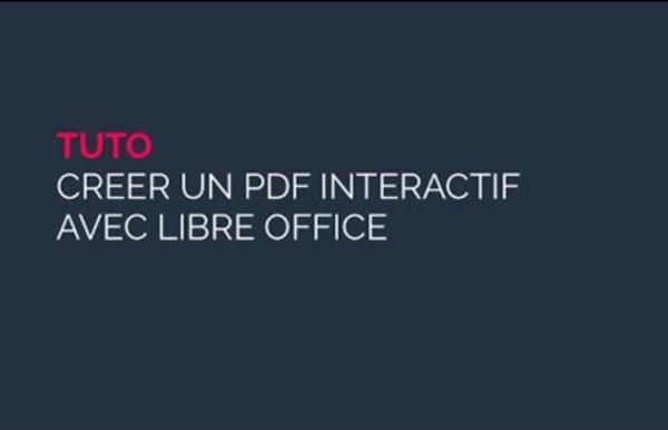 PDF interactif avec Libre Office