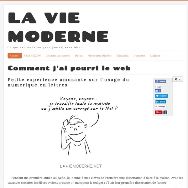 Comment j'ai pourri le web