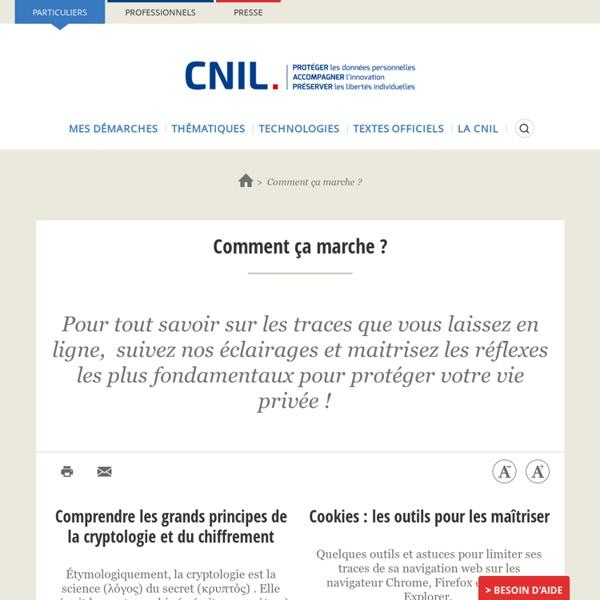 CNIL: comprendre mes traces
