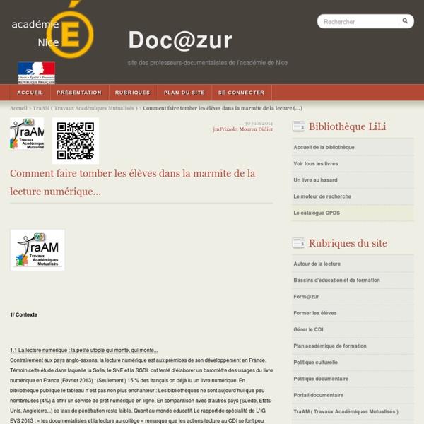 Doc@zur - site des professeurs-documentalistes de l'académie de Nice