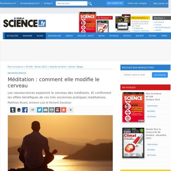Comment la méditation modifie le cerveau