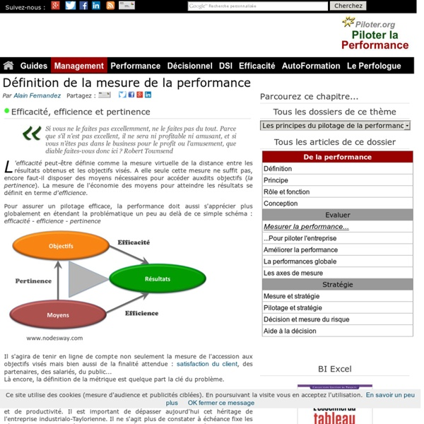 Comment mesurer la performance ?