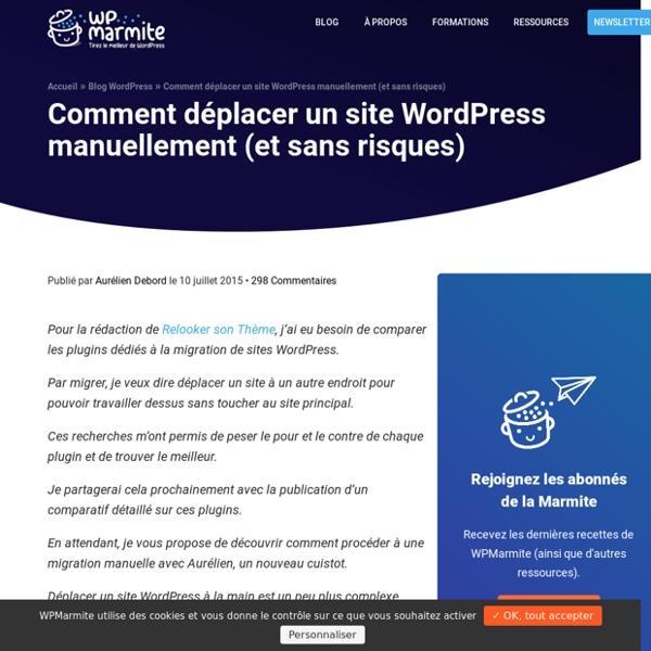 Comment migrer un site WordPress étape par étape