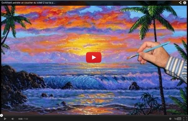 Comment Peindre Un Coucher Du Soleil 2 Sur La Page Cour De Peinture