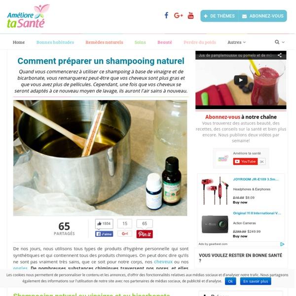 Comment préparer un shampooing naturel