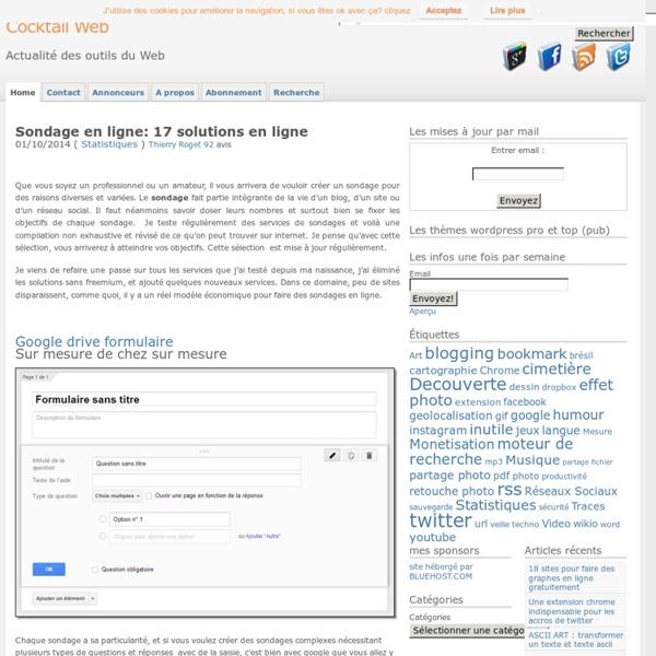 Comment faire un sondage en ligne : 13 solutions de sondage en ligne
