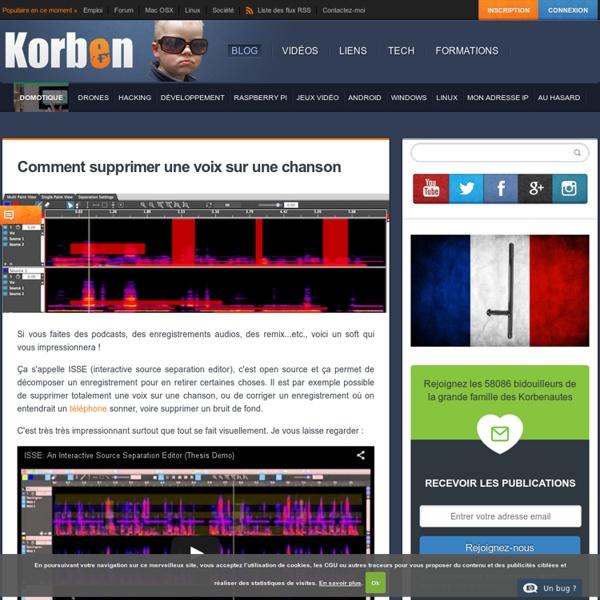 Comment supprimer une voix sur une chanson « Korben Korben