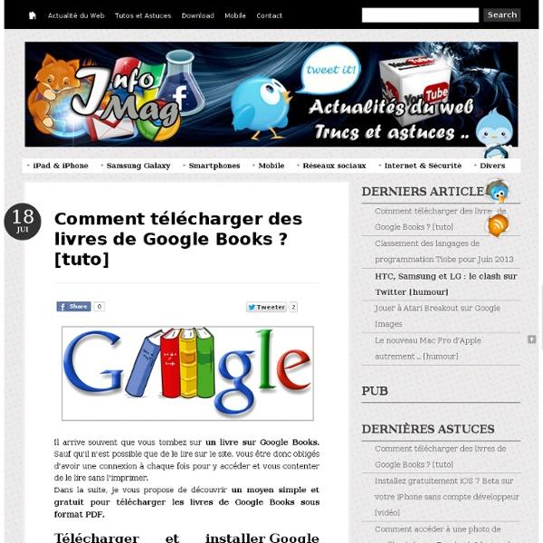 Comment télécharger des livres de Google Books