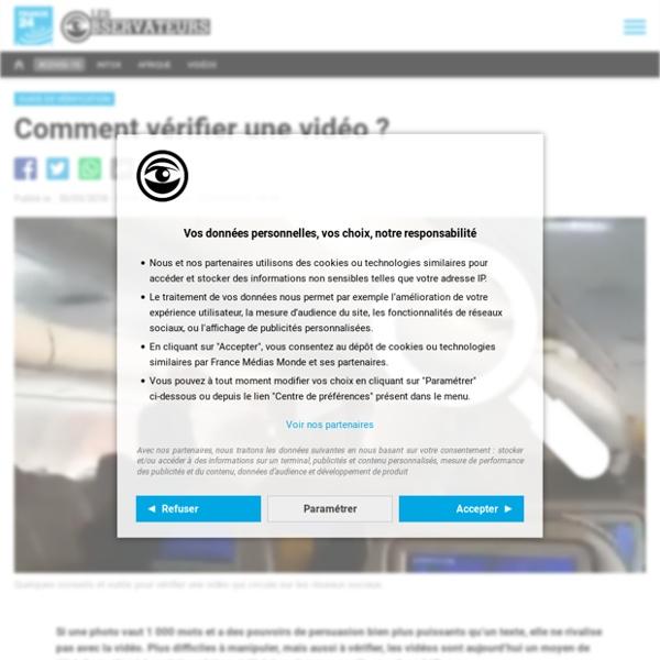 Comment vérifier une vidéo?