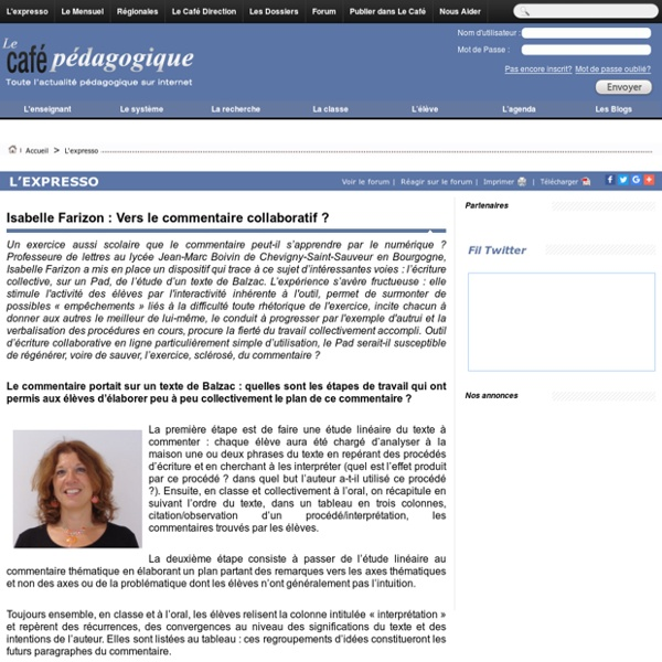 Isabelle Farizon : Vers le commentaire collaboratif ?