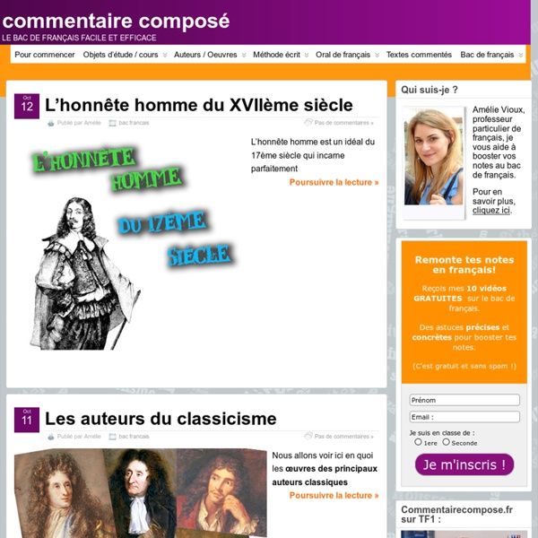 Commentaire composé - le bac de français facile et efficace