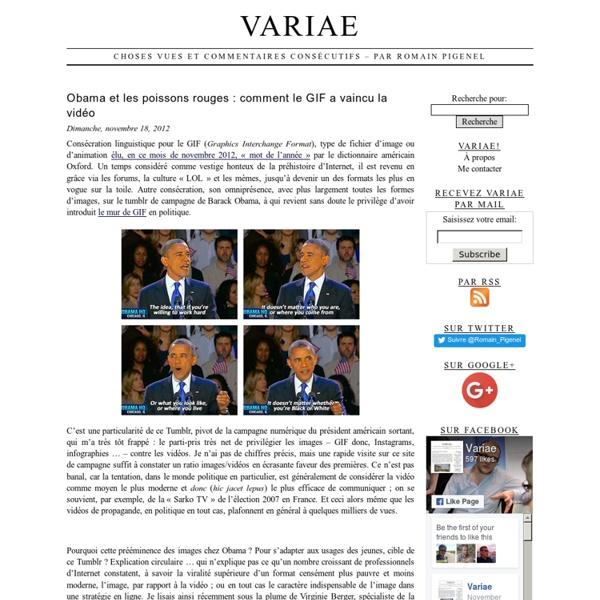 Choses vues et commentaires consécutifs – par Romain Pigenel