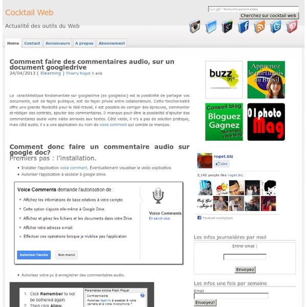 Comment faire des commentaires audio, sur GoogleDrive