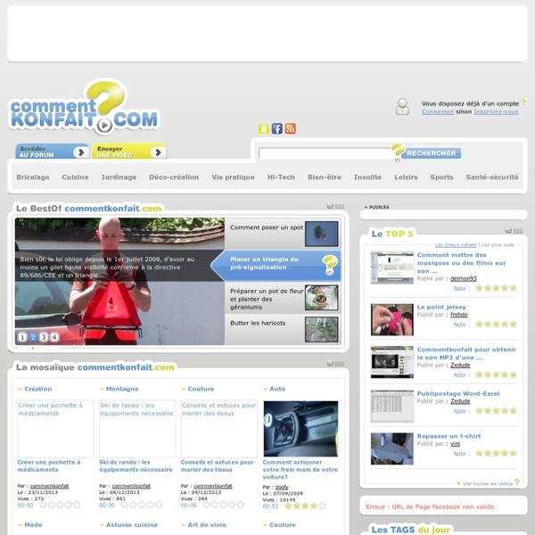 Commentkonfait.com : le mode d'emploi du quotidien en vidéo
