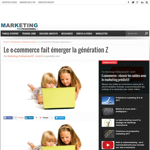 Le e-commerce fait émerger la génération Z