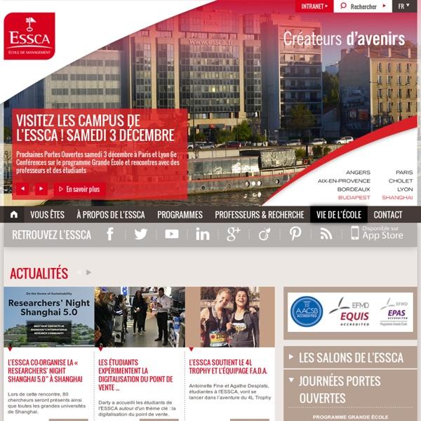 ESSCA - Ecole de commerce post-bac, Gestion Management, Angers - Paris