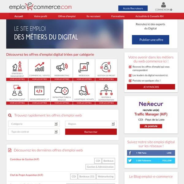 Emploi e-commerce, toutes les offres d'emploi e-commerce
