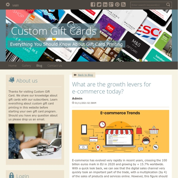 What are the growth levers for e-commerce today? - Custom Gift Cards : powered by Doodlekit
