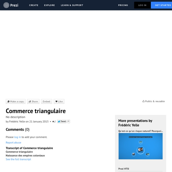 Commerce triangulaire by Frédéric Yelle on Prezi