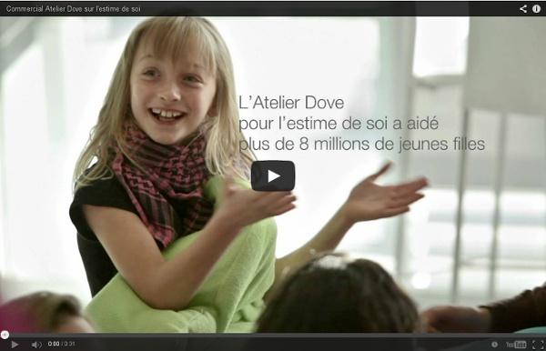 Commercial Atelier Dove sur l'estime de soi