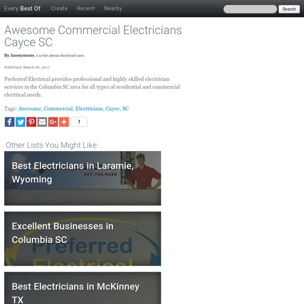 Awesome Commercial Electricians Cayce SC