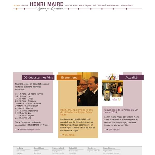 Recrute, Commercial, Vente, Emplois, Avenir, CV, Lettre de motivation, Henri Maire, Domaines Henri Maire, vins du Jura, vins d'arbois, vin jaune, vin de paille, vin rouge, vin rosé, vin blanc, crémant du jura, vin fou, macvin du jura, trousseau, savagnin,