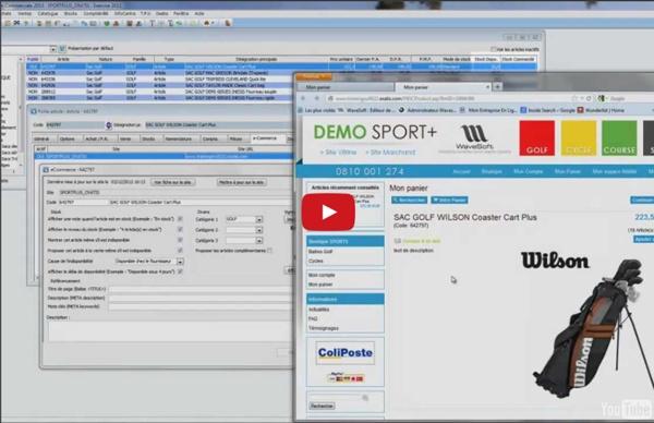 Vidéo : Gestion commerciale e-commerce Wavesoft (ERP/PGI/CRM/GRC) - Logiciel de gestion TPE PME/PMI