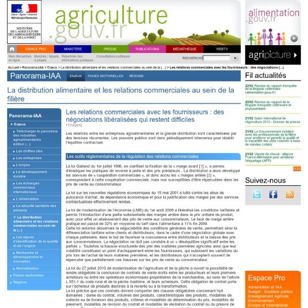 Les relations commerciales avec les fournisseurs : des négociations libéralisées qui restent difficiles
