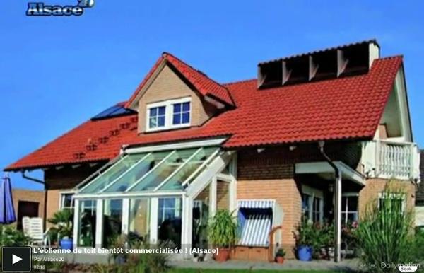 L'éolienne de toit bientôt commercialisée ! (Alsace)