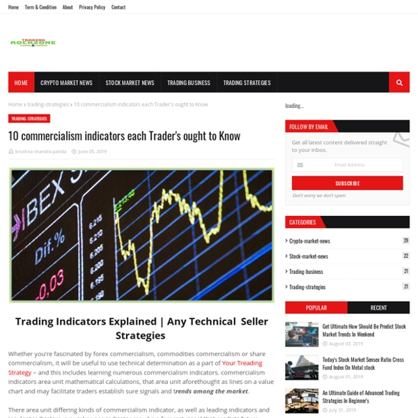 10 commercialism indicators each Trader's ought to Know