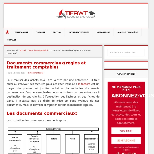 DOCUMENTS COMMERCIAUX