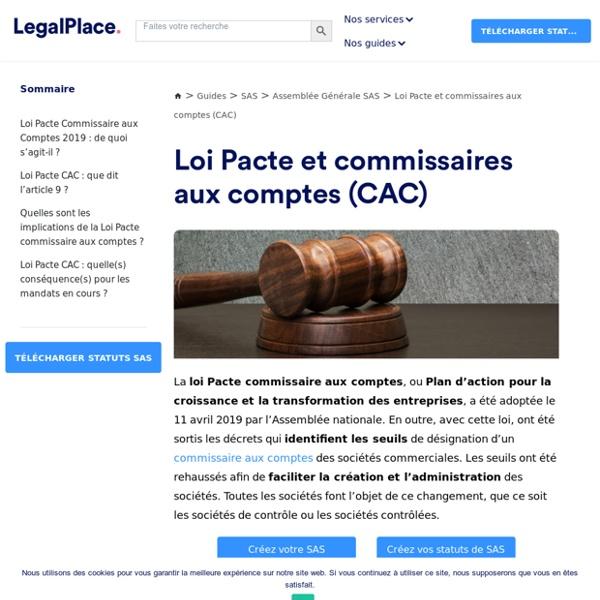 Loi Pacte et commissaires aux comptes : ce qui change en 2020
