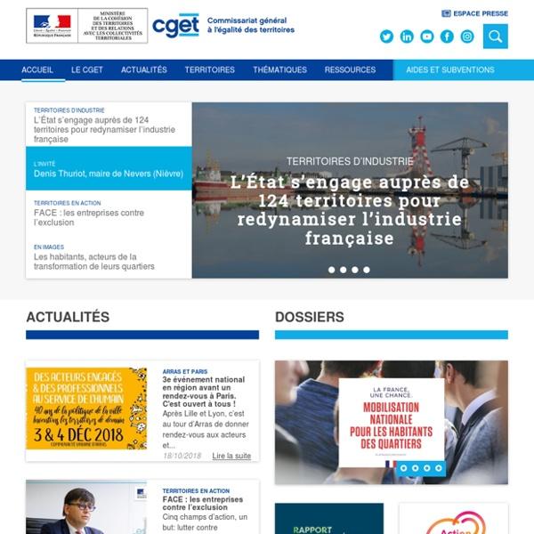 Commissariat Général à l'egalité des Territoires (CGET).