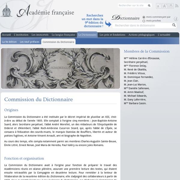 Commission du Dictionnaire