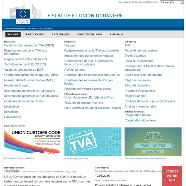 Fiscalité et Union douanière - European commission