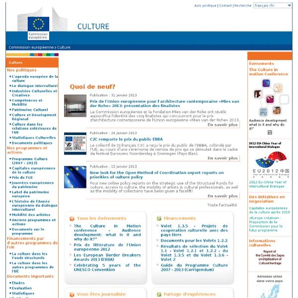 Commission européenne - Culture