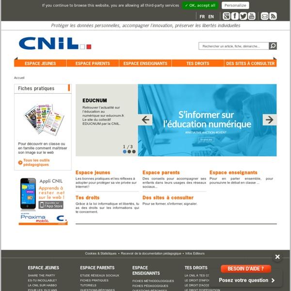 Jeunes - Jeunes - CNIL - Commission nationale de l'informatique et des libertés