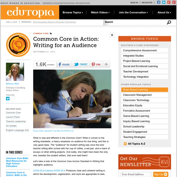 Common Core in Action: Writing for an Audience