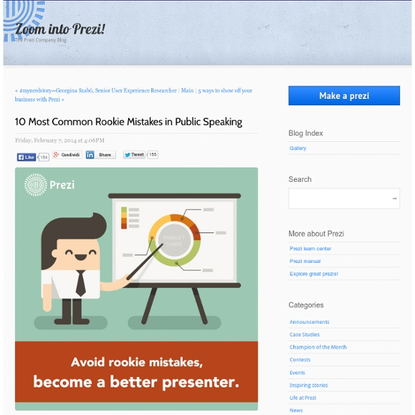 10 Most Common Rookie Mistakes in PublicSpeaking