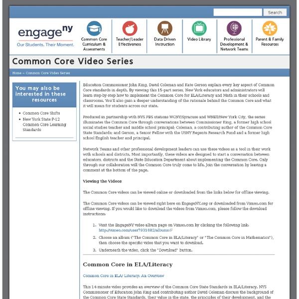 Common Core Video Series