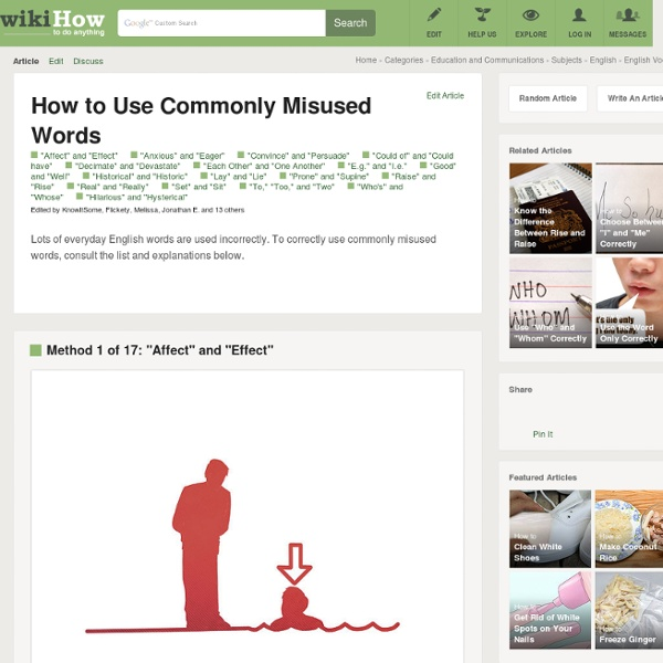 How to Use Commonly Misused Words