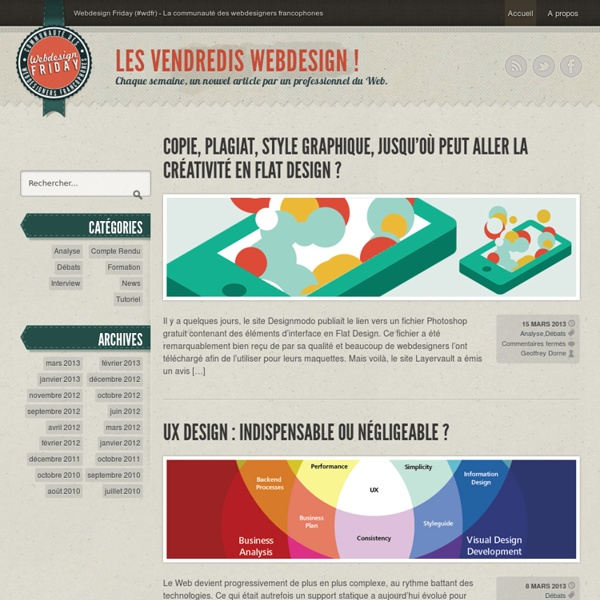 Webdesign Friday (#wdfr) - La communauté webdesign francophone