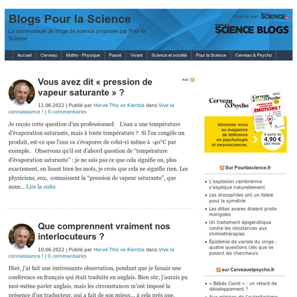 La science au quotidien