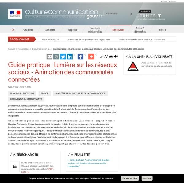 Guide pratique : Lumière sur les réseaux sociaux - Animation des communautés connectées