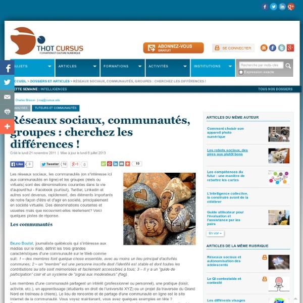 Réseaux sociaux, communautés, groupes : cherchez les différences !