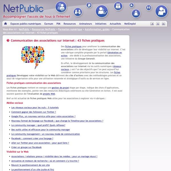 Communication des associations sur Internet : 43 fiches pratiques