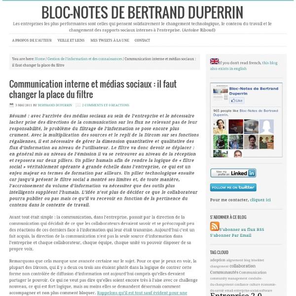 Communication interne et médias sociaux : il faut changer la place du filtre Bloc