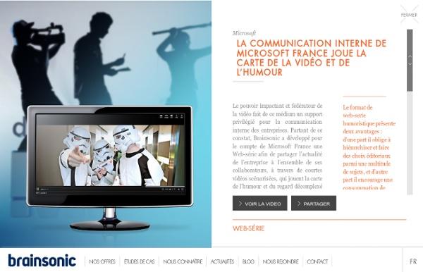 La communication interne de Microsoft France joue la carte de la vidéo et de l'humour